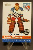 2000-01 Topps Heritage Autographs #HA-LW Lorne Gump Worsley On Card Auto