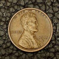 1917-S Lincoln Cent ~ VERY FINE (VF) Condition ~ $20 ORDERS SHIP FREE!