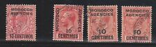 (H8-64) 1907-37 GB 11stamps British agencies Morocco used