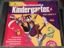 Multimedia Kindergarten+ (Ages 3-7) (PC-CD, 1997) for Windows C1