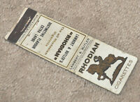 1930s England Great Britain Advertising Matchbook Cover Rhodian Cigarettes NICE!
