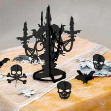 6 Piece Halloween Horror Gothic Elegant Poison Glitter Candelabra Decoration Set