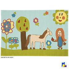 Sale ! ARTE ESPINA Teppich Handtuft 4038-52 Mädchen, Pferd und Blumen 110x160 cm