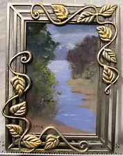 Leonard Long original miniature oil titled 'Goulburn river'. Australia
