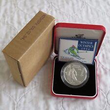 NUOVA Zelanda 1994 OLIMPIADI INVERNALI $5 ARGENTO PROOF-COMPLETO