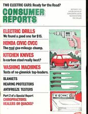 Consumer Reports Magazine October 1975 Electric Drills VGEX No ML 020117jhe