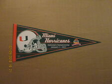 NCAA Miami Hurricanes Tostitos Fiesta Bowl 2003 National Championship Pennant