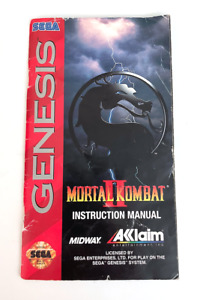 Mortal Kombat II 2 Sega Genesis Manual Only Original Instruction Booklet