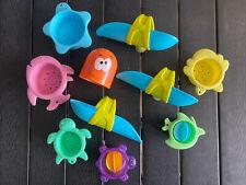 10 teiliges Set Badewannen Spielzeug Haba Wasserspiel Saugnapf