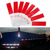 5X Red-White Truck Car Safety Warning Night Reflective Strip Tape Sticker Decal