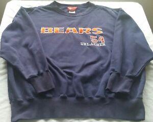 "Brand new NFL Players, Inc. brand, ""Bears #54 Urlacher"" sweatshirt in size XL"
