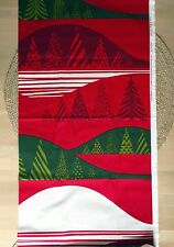 Marimekko Kultakero piece of fabric 100x145cm, red-green-white,100% cotton