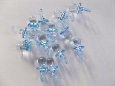 10 X Blu Dummies-Baby Shower-Baby Boy-Favours-Decorazione Tavola