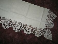 Battenburg Lace-Antique Vintage Table Runner Mantle cloth Hand Embroidery 1900s