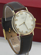 rotary 9ct gold watch mens mens vintage 1970s rotary 9ct solid gold hand winding dress wristwatch