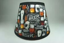 Beer Craft Mug Brew House Print Fabric Handmade Lampshade Lamp Shade Man Cave
