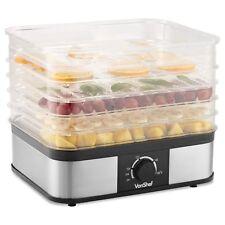 VonShef 5 Tray Food Dehydrator Machine Electric Food Preserver Fruit & Jerky