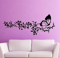 Wall Sticker Vinyl Decal Butterfly Tree Branch Decor Cool Living Room (ig958)