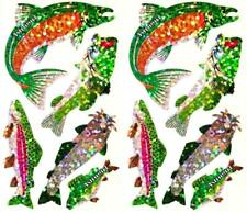 ~ Sparkle Trout Fish Fishing Catfish Assorted Hambly Studios Glitter Stickers ~