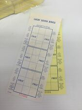 BINGO PAPER You Pick Em Lucky Sevens BRAND NEW CASE 6000 Sheets 3 On Each
