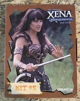 XENA Warrior Princess Fan Club Kit #5 VHS Tape/Poster/Photos/Certificate/Fanzine