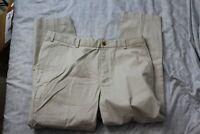 Brooks Brothers Clark Advantage Chino Mens Size 38x32 Khaki Pants Flat Front