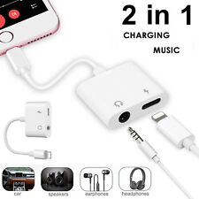 Audio+Charge/Lightning to 3.5mm Jack AUX Music Adapter Cable for iPhone 7 8 X