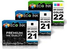 ECO INK © HP 21 HP 22 ( 2 Blk 1 Clr ) Ink (C9351A C9352A) Hp21 Hp22 3 Pack