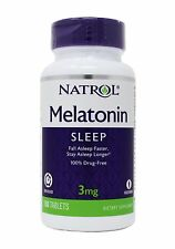 Natrol MELATONIN STRESS RELIEF SLEEP AID 3 mg 100 Tablets Time Release