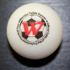 Set of 4 White Warrior Table Soccer Classic Pro Game Foosballs