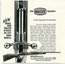 1973 small Print Ad of Mauser Bauer Model 3000 Rifle