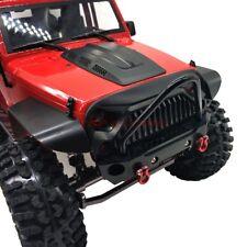 CNC METAL FRONT BUMPER BULL BAR W/ Shackles For AXIAL SCX10 TRX-4 JEEP RC TRUCK