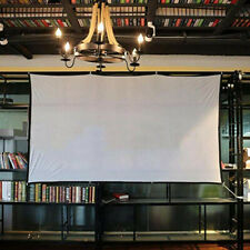 Portable Projector Screen 4:3 Fabric White Matte 3D Hd Home Cinema Theater 84In