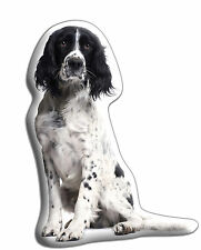 "Springer Spaniel B&W Dog Gift – Beautiful Large 'Cuddle Cushion' approx18""x 16"""