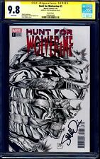 Hunt for Wolverine #1 SKETCH 1:50 VARIANT CGC SS 9.8 signed Steve McNiven NM/MT