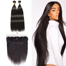 2Bundles 200gr. Human Hair Bundles With Ear To Ear Lace Frontal Hair Extension