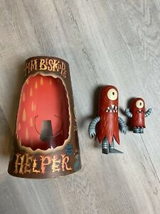 """Tim Biskup SIGNED 8"""" & 4"""" Red Helper Set AUTOGRAPHED 2004 Critterbox SKETCH NEW"""