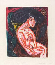 Ernst Kirchner Reproduction: The Mistress (Die Geliebte) - Fine Art Print