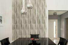 *ORIGAMI* 3D Decorative Wall Panels Set of 3 pcs ABS Plastic mold for Plaster