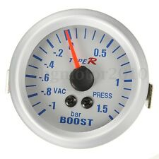 52mm Manomètre Pression Pointer Turbo Boost Vacuum Gauge Reads In BAR Up To 1.5