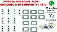 OFFERTA PRESA VIMAR PLANA 14203 10 PEZZI IN OMAGGIO N10 14613 VIMAR PLANA stock