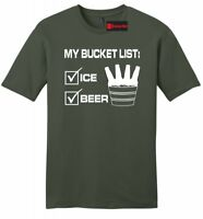 My Bucket List Funny Mens T Shirt Beer Ice Bucket Alcohol Party Soft Tee Z2
