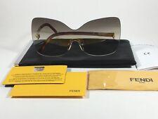 dcaae71a03ed Fendi Runway Sunglasses Oversized Shield Butterfly Gray Lens Havana Frame  Fs5273