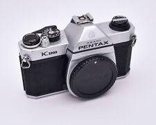 Pentax Silver K1000 35mm SLR Film Camera Body with Cap PK Mount READ (#5168)