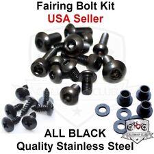 Black Fairing Bolt Kit Body Screws Fasteners for Kawasaki Ninja ZX-6R 07 08