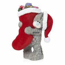 Me to You Stocking Up Figurine Carrying Christmas Stocking Tatty Teddy