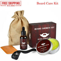 Beard Growth Kit Beard Growth Serum Derma Roller Comb for Beard and Hair Growth