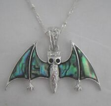 Necklace/Pendant Bat Abalone Shell new chain & box flying fox