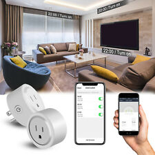 2 Pack Mini WiFi Smart Plug Outlet Socket for Android & IOS Home Remote Control