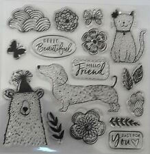 Assorted Clear Stamps - Nature Theme - (16 various stamps)